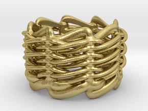 Folding Fieldz Ring 19mm interior in Natural Brass