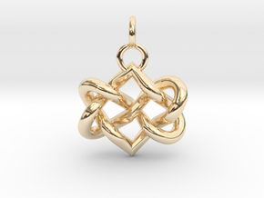 Celtic heart in 14K Yellow Gold