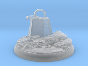 Broken Dragon Anchor - Tabletop Base 40 mm in Smooth Fine Detail Plastic
