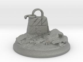 Broken Dragon Anchor - Tabletop Base 40 mm in Gray Professional Plastic