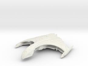 Romulan Ar'kif II  Tactical Warbird in White Natural Versatile Plastic