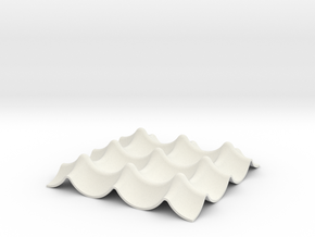Napkin Keyholder in White Natural Versatile Plastic