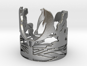Sirens Song Ring  in Natural Silver: 6 / 51.5