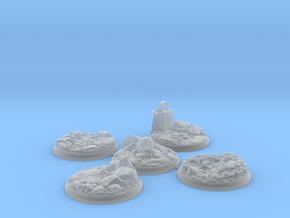 "Set of five 40 mm Bases for my ""Lava World"" series in Smooth Fine Detail Plastic"
