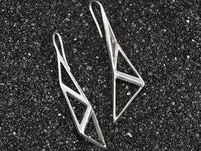 sWINGS Structura Earrings in Polished Silver