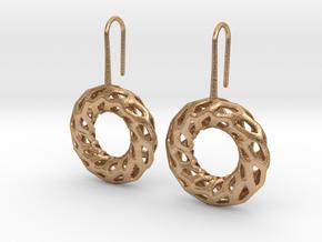 DRAGON, Omega Earrings.  in Natural Bronze