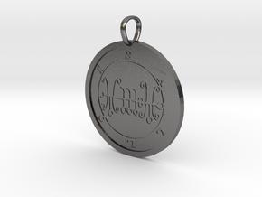 Sallos Medallion in Polished Nickel Steel