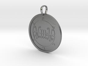 Sallos Medallion in Natural Silver
