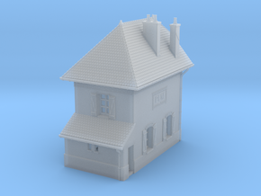 ZBay05 - Barrier Guard House left in Smooth Fine Detail Plastic