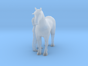 HO Scale Man and Horse in Smooth Fine Detail Plastic