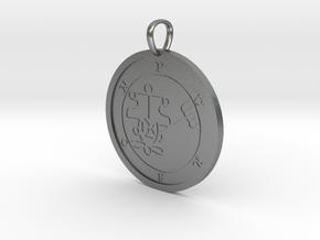 Purson Medallion in Natural Silver