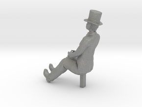 S Scale Sitting Man in Gray PA12