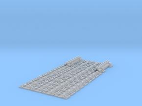 Schienenbefestigung Lasche für 15m Gleis 1:45 in Smooth Fine Detail Plastic