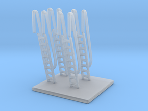 1/192 Scale Ship Vertical Ladders in Smooth Fine Detail Plastic