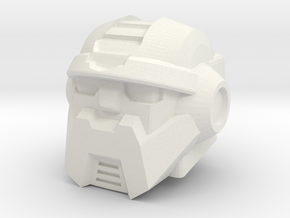 Salvage Head for Combiner Wars Prime in White Natural Versatile Plastic