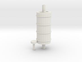 Slate Incline Winding House Barrel - OO9 Scale in White Natural Versatile Plastic