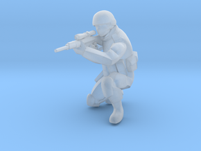 Soldier-sq-8 in Smooth Fine Detail Plastic