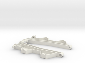 "Wide sidepans for ""Back to '60"" slotcar chassis in White Natural Versatile Plastic"