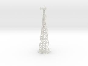 Cell Tower (HO) in White Natural Versatile Plastic: 1:87 - HO