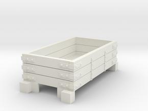 Narrow gauge wagon type1 in White Natural Versatile Plastic