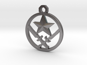 CS:GO Terrorist Pendant in Polished Nickel Steel