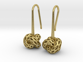 D-STRUCTURA Earrings. Stylized Chic in Natural Brass: Small