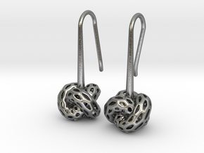 D-STRUCTURA Earrings. Stylized Chic in Natural Silver: Small