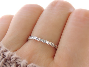 With You Always Ring (Multiple Sizes) in Polished Silver: 6 / 51.5