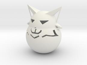 Cat Standing in White Natural Versatile Plastic
