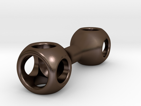 Hollow Knuckle Roller in Polished Bronze Steel: Medium