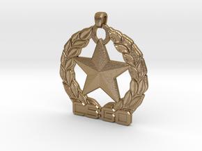 CS:GO Gold Nova 1 Pendant in Polished Gold Steel