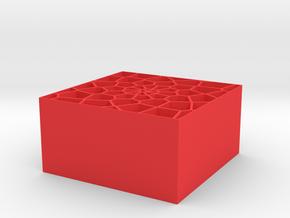 Voronoi organiser in Red Processed Versatile Plastic