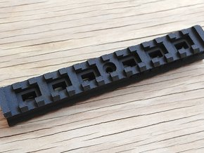 Back-to-Back 14-Slots Picatinny Rails Adapter in Black Natural Versatile Plastic