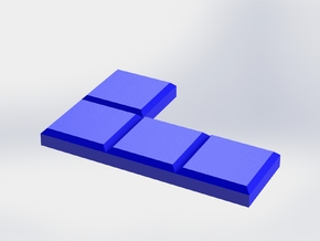 Blue Reverse L-Shaped Coaster in Blue Processed Versatile Plastic