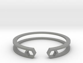 HH Bracelet Sharp, Medium Size, 65mm. Minimalistic in Gray PA12: Medium