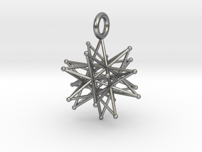stellated icosa 26mm and 37mm in Natural Silver: Medium