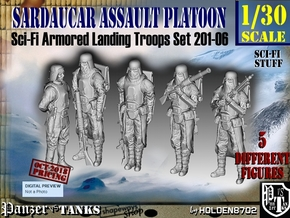 1/30 Sci-Fi Sardaucar Platoon Set 201-06 in Smooth Fine Detail Plastic