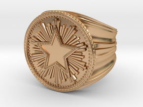 CS:GO Service Medal Ring in Polished Bronze