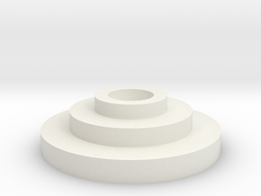 Inferno Code Disc in White Natural Versatile Plastic