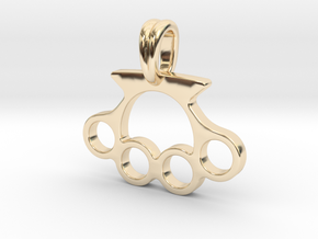 Knuckle Pendant Jewelry Symbol in 14K Yellow Gold