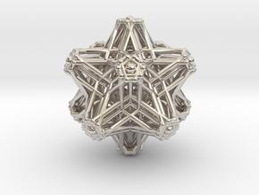 Hedron stars Nest in Rhodium Plated Brass