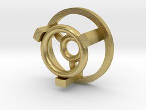 "1"" Arc Reactor Insert 2/3 in Natural Brass"