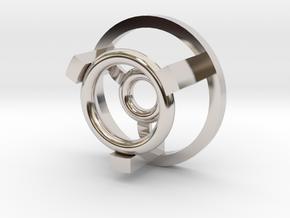 """1"""" Arc Reactor Insert 2/3 in Rhodium Plated Brass"""
