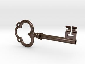 Ornate Antique Key in Polished Bronze Steel