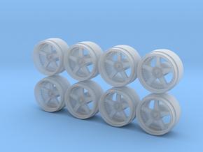 Veilside Evolution Hot Wheels Rims 9-0 in Smoothest Fine Detail Plastic