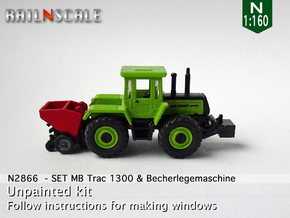 SET MB Trac 1300 & Becherlegemaschine (N 1:160) in Smooth Fine Detail Plastic