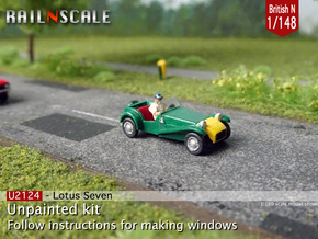 Lotus Seven (British N 1:148) in Smoothest Fine Detail Plastic