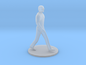 O Scale Man Walking in Smooth Fine Detail Plastic