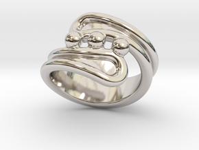 Threebubblesring 14 - Italian Size 14 in Platinum