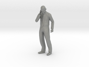 HO Scale Man Talking on the phone in Gray PA12
